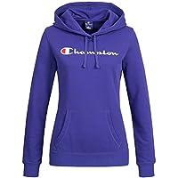 Champion Damen Hood Kapuzen Sweatshirt hellblau