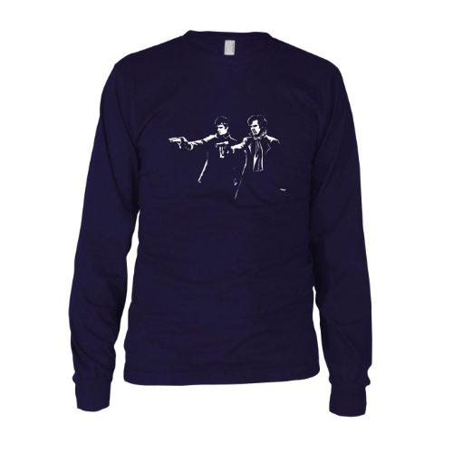 Sherlock Fiction - Herren Langarm T-Shirt Dunkelblau