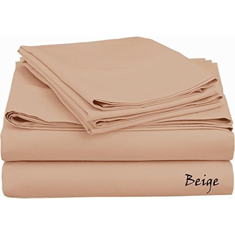 4 pièces de lit – -- 450tc 450tc 450tc 450 fils de qualité hôtelière Beige solide UK Double 100% coton égyptien Poche profonde suppléHommes taire (12:) 07e3ae