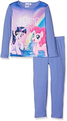 Hasbro Mädchen Zweiteiliger Schlafanzug My Little Pony, Violett (Purple 18-3946TC), 4 Jahre