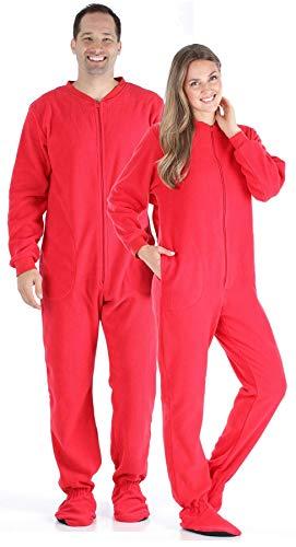 Halloween Kostüm Thing 1 Und Sache 2 - SleepytimC10js Schlafanzug für Erwachsene, Fleece, Rot
