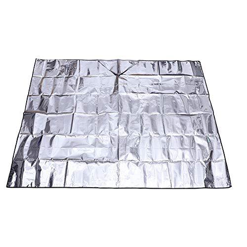 uchtigkeitsschutz aus Folie für den Außenbereich - Doppelseitige Picknickmatte, wasserdichte, Faltbare Aluminiumfolie für einfache Pflege - Ideal für Campingwanderungen im Freien ()
