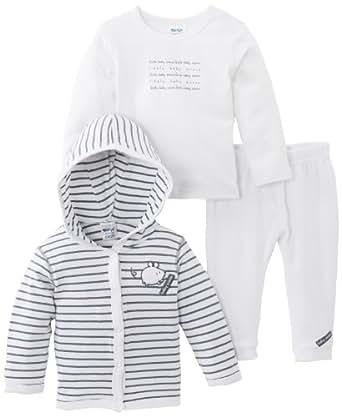 Dirkje 31BN-13212H - Ensemble - Bébé garçon - Blanc (White/Stripes) - FR: 1 mois (Taille fabricant: 56)