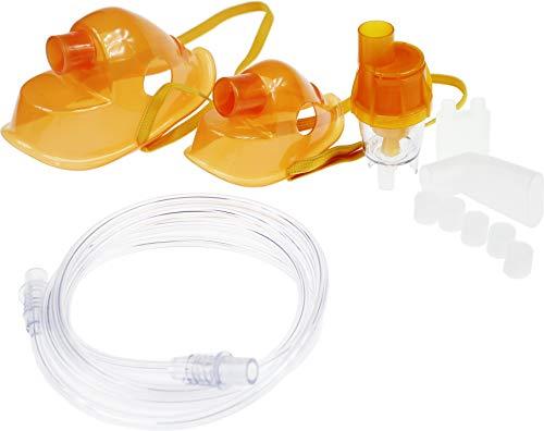 Zubehör für Omnibus BR-CN116B BR-CN151 Vernebler Inhaliergeräte Inhaliergerät Inhalator Erwachsenenmaske Kindermaske Anschlussschlauch Mundstück orange