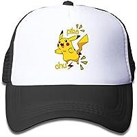 matthe Juventud niños niña Boy Kids Rock Impreso patrón Pikachu Pokemon  Unisex Mitad Malla Gorra de d908470d2a7