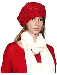 Ularma 2016 Nueva moda invierno cálido mujeres señoras boina trenzada holgados esquí sombrero gorro
