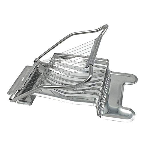 Sunlera Edelstahl Gekochtes Ei Slicer Multi-Funktions-Abschnitt Pilz Tomate Cutter Chopper Küche, das Werkzeug (Metall-ei-chopper)