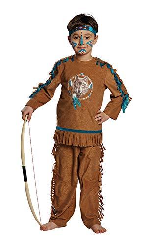 Mottoland Kinder Indianer Junge Kostüm Fasching Karneval Halloween Kinderkostüm : Größe: 128