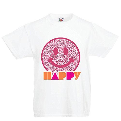09d3dbd057b37 lepni.me Enfants garçons Filles T-Shirt Emoji Wear - Inspirational Happy  Emoticon