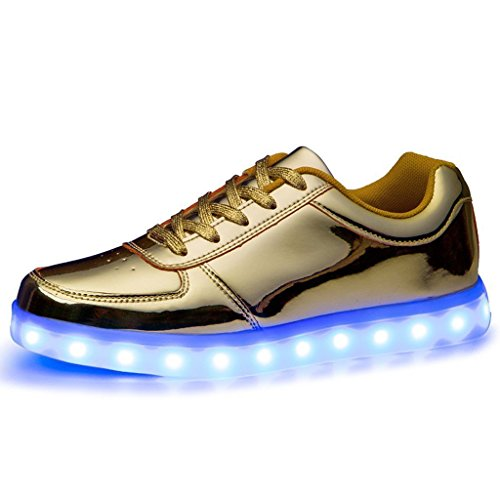 (present: Pequena Toalha) Junglest® Meninos Meninas Sapatos De Couro Da Sapatilha C17 Brilhante Cor Mudança De Fluorescência Sneakers Schu