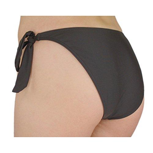 Aquarti Damen Bikinihose seitlich zum Binden Bikini Hüftslip Braun