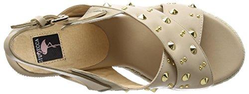 Giudecca - Jycx15j12-1, sandali aperti a cuneo Donna Beige (AD-2 Beige)
