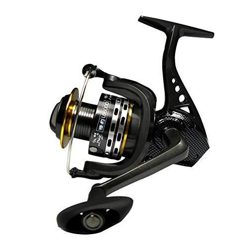 WINBEST 10 + 1bb Negro Cuerpo Metal Spinning Carrete Peces Barco LB3000(LB3000)