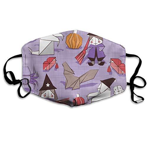 WBinHua Masken für Erwachsene, Mask Face, Mouth Mask, Breathable Mask Anti Dust, Unisex Halloween Origami Printed Cotton Mouth-Masks Face Mask Polyester Anti-dust Masks