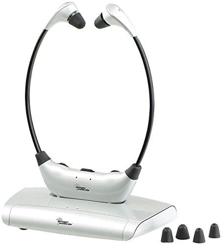 newgen medicals Funkkopfhörer: Digitaler Funk-Kinnbügel-Kopfhörer mit Hörverstärker, bis zu 125 dB (TV Funk Kopfhörer)