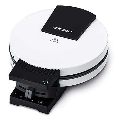 Cloer 181 Waffelautomat für kuchenartige Waffeln / 930 W / Waffelgröße 16 cm / schwere Backplatten / optische und akustische Fertigmeldung / weiß
