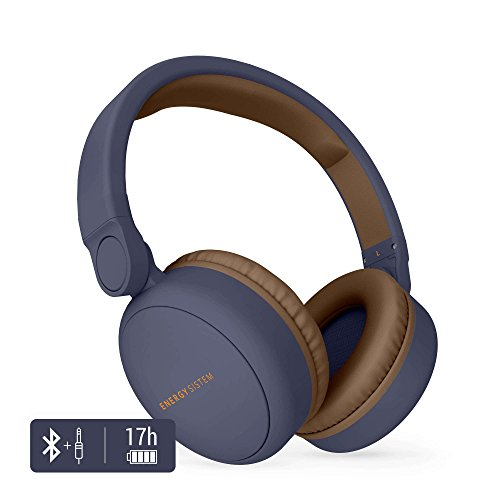 Energy Sistem Headphones 2 - Auriculares con Bluetooth (Over-Ear, Audio-In, Long Battery Life, 180 Plegable) Azul