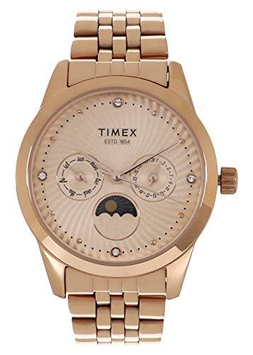 Timex Analog Rose Gold Dial Women's Watch-TWEL13105