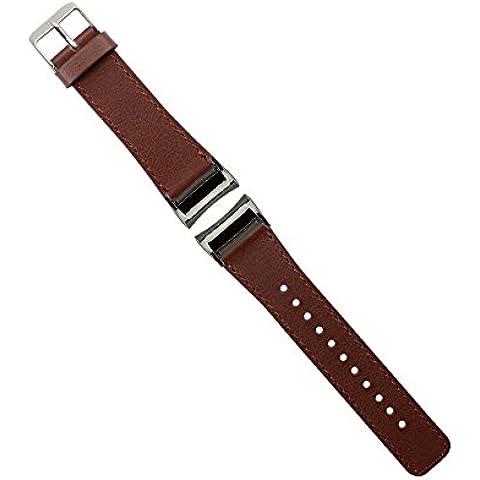 Samsung Gear Fit 2 Cinturino, Moonmini® Genuino cuoio cinturino Bracciale wrist Strap con l'adattatore per Samsung Gear Fit 2 Marrone