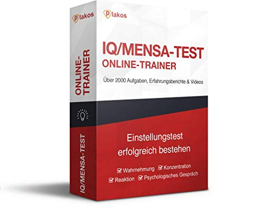 IQ/ Mensa-Test Online-Testtrainer: Interaktive und authentische Aufgaben aus den Bereichen Konzentration und Logik (Merkfähigkeit, Fehlersuche, Zahlenreihen, Sprach- und Grafikanalogien, Matrizen) - Logik-matrix