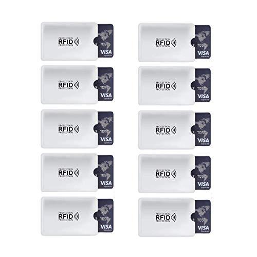 10 Unids/Set Aluminio Lector Anti RFID Bloqueo Tarjeta