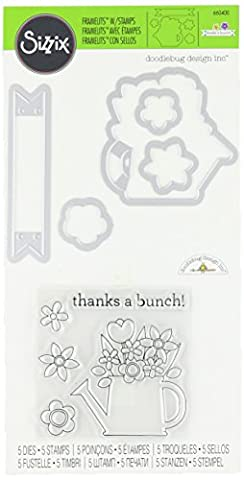 Sizzix Framelits Die Set with Stamps Thanks a Bunch by
