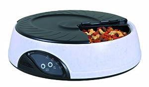 Trixie Distributeur Automatique de Nourriture Granit/Noir 32 × 9 cm pour Chien