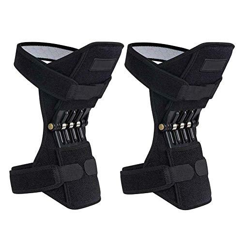 GYFHMY EIN Paar Knieschützer zur Unterstützung der Gelenke, Zugstabilisator mit Federbandage, £ 88, atmungsaktiv und schmerzlindernd für Wandern, Kniebeugen und Fitnesstraining