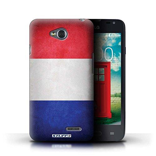Kobalt® Imprimé Etui / Coque pour LG L65/D280 / Chili/Chiliean conception / Série Drapeau France/français