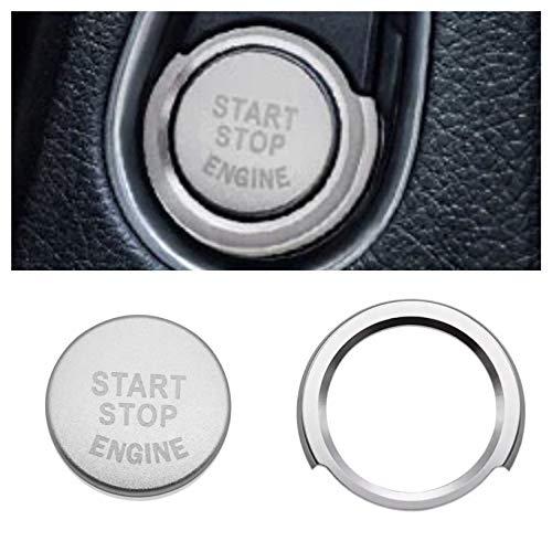 Emblem Trading Lot de 7 anneaux de démarrage avec bouton pression pour lot de 2, 3, 4, 5, 6, X1, X3, X4, X5, X6, GT Argenté