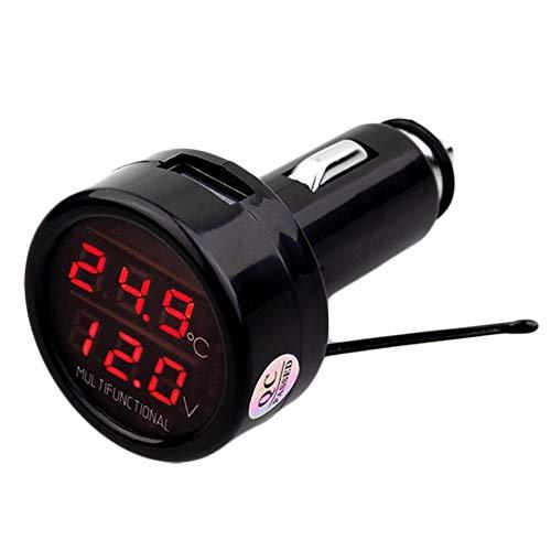 Presentimer 3 in1 Termómetro Coche Voltímetro Temperatura