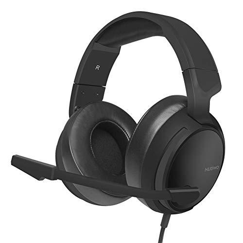 Blue-Yan Gaming-Kopfhörer mit Mikrofon für PC/PS4/Mac/Mobile Xbox One, Kopfhörer mit Mikrofon, Lautstärkeregler für Stereoiden Bässen, Geräuschunterdrückung, verstellbar, Schwarz, -