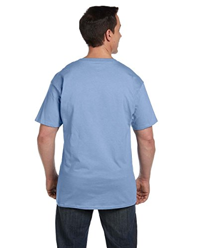 Hanes Men's Beefy-T T-Shirt With Pocket Blau - Hellblau