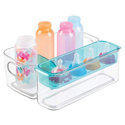 mDesign Sortierbox für Babyartikel - als Aufbewahrungsbox im Kinderzimmer oder in der Küche zur Babynahrung Aufbewahrung