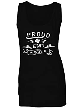 Orgullosa Emt Esposa camiseta sin mangas mujer n725ft