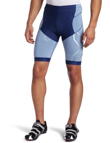 2XU Herren Kompressionshose Tri Shorts, Unisex-Erwachsene Herren, Indigo/Cloudy Blue, Small