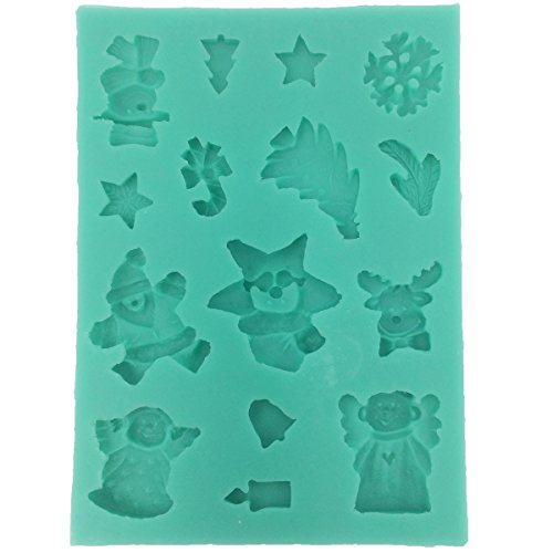 Musykrafties Christmas Mini Ornaments Candy Fondant Chocolate Silicone Mould for Cake Decoration, Cupcake Decorate, Polymer Clay, Crafting