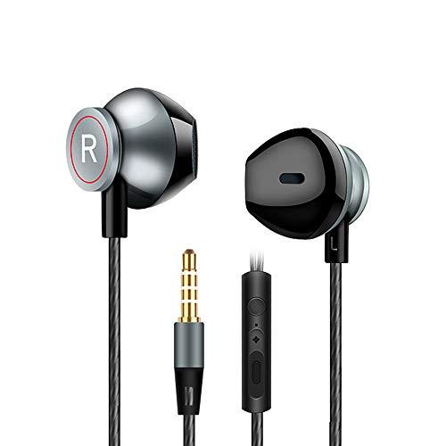 JKLP Kopfhörer Stereo-Telefon In-Ear-Subwoofer-Fernbedienung - Abs Subwoofer Kabel