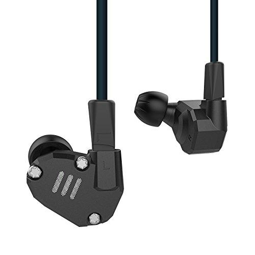 KZ ZS6 Quad-Treiber High Fidelity Extra Bass Hifi In Ohr Kopfhörer (Ohne Mikrofon, Schwarz)