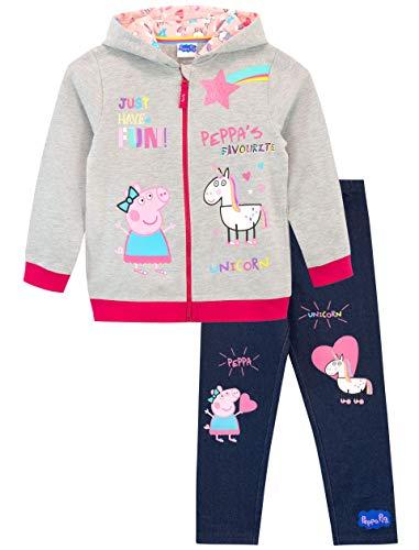 Peppa Pig Conjunto de Sudadera con Capucha y Leggings para Niñas Unicornio 4-5 Años