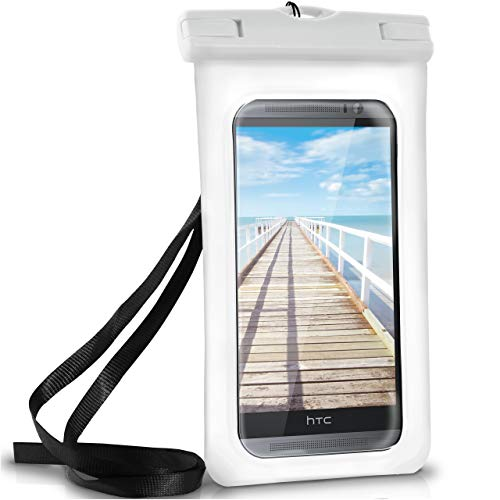 ONEFLOW Wasserdichte Hülle für HTC | Full Cover in Weiß 360° Unterwasser-Gehäuse Touch Schutzhülle Water-Proof Handy-Hülle für HTC U11 U12 Plus One M9 M8 M7 A9 10 Evo UVM Case Handy-Schutz