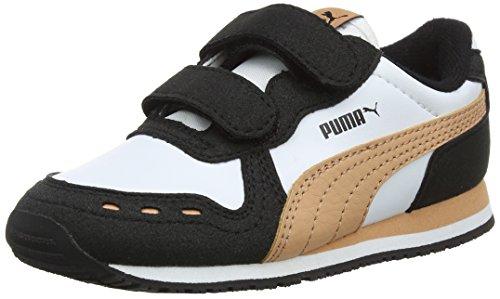 Puma Unisex-Kinder Cabana Racer SL V Inf Sneaker, Weiß White Black Dusty Coral 69, 23 EU