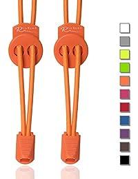 RioReno Elastische Schnürsenkel mit Schnellverschluss Schnellschnürsystem ohne Binden, schleifenlose Schnürsenkel, Gummi Schnürsenkel, Perfekter Sitz und starker Halt, in 11 Farben erhältlich