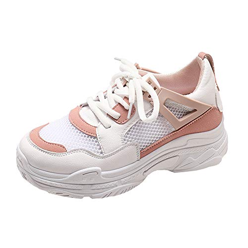 NINGSANJIN Classics Unisex-Erwachsene Light Runner Shoe Low-Top (Rosa,39)