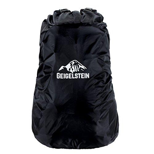GEIGELSTEIN Raincover für Rucksäcke von 30-55 Liter, Regenschutz mit Wasserdichter Membran, für Wandern, Trekking, Berg-Sport, Outdoor, Camping, Survival, Bike und Reisen