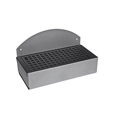 Posacenere a muro rettangolare in metallo laccato nero