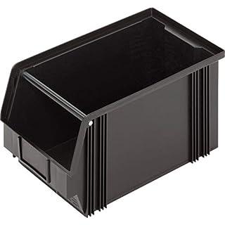 alutec ESD-Lagersichtbox (B x H x T) 200 x 200 x 350mm black CB3MC 1394003197 1St.