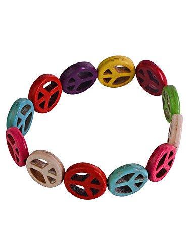 1,5 millimetri Colorful Bracciale Simbolo Pace - America Del Magnete