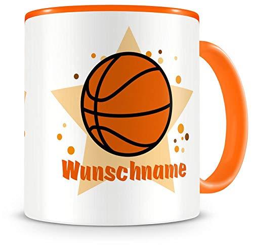 sse mit Namen und einem Basketball als Motiv Bild Kaffeetasse Teetasse Becher Kakaotasse ()