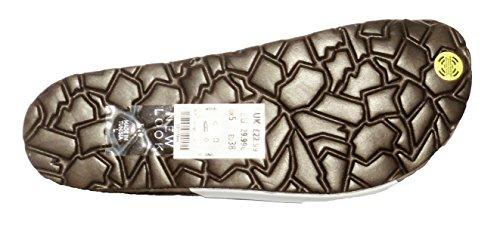 Femmes NEW LOOK CUIR plage décontracté bracelet boucle Sandales plates Blanc